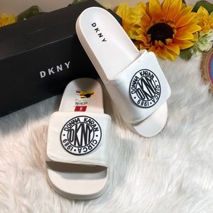 DKNY Zo-Single Band Slip On Flat Slides